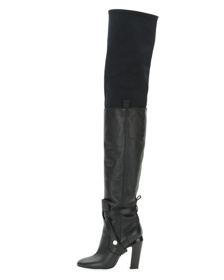 c8457d61 Diana Over-the-Knee Leather Boot Nero