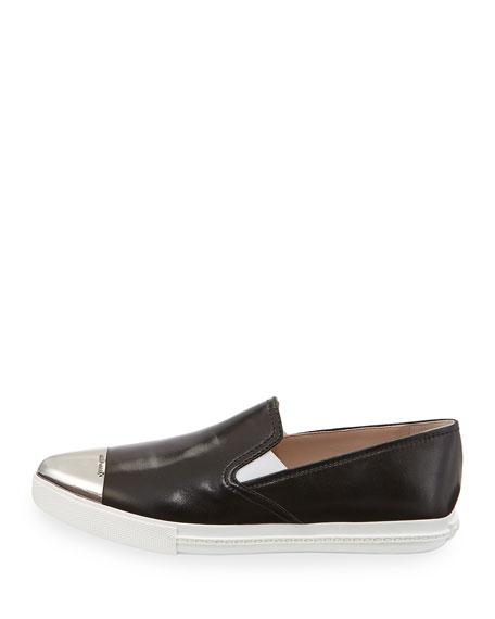 Metal-Toe Leather Skate Shoe