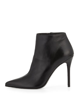 Stuart Weitzman HiTimes Leather Ankle Boot, Black
