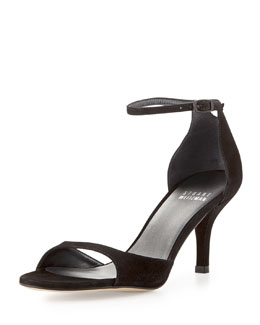 Stuart Weitzman Sobare Suede Ankle-Strap Sandal