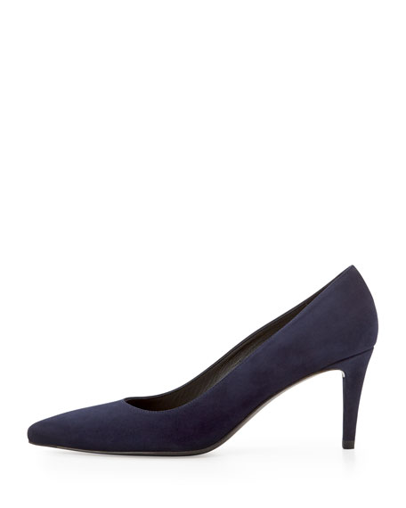 2723abc80903 Stuart Weitzman Pinot Suede Pointed-Toe Pump
