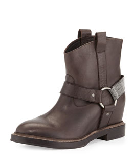 Brunello Cucinelli Hidden-Wedge Harness Boot