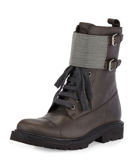 Brunello Cucinelli Monili Lace-Up Boots low price Jlq0t