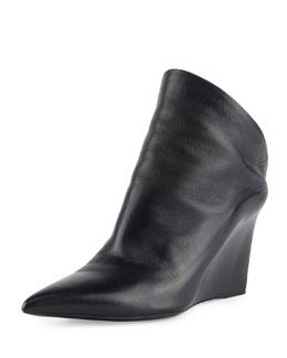 Balenciaga Lambskin Glove Wedge Bootie, Noir