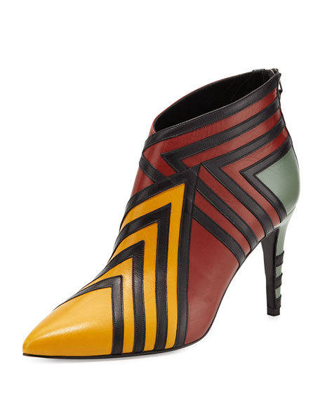 Kiss Leather Ankle Boot, Multi Rust