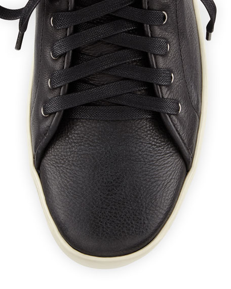 Kent Leather Mid-Top Sneaker, Black
