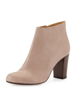Coclico Birk Leather Ankle Boot, Natural Pebble
