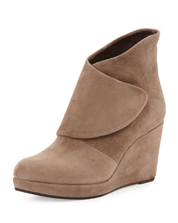 Coclico Henrietta Wedge Ankle Boot, Beige