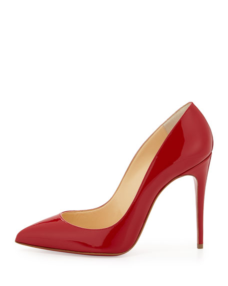Pigalle Follies Point-Toe Red Sole Pump, Red