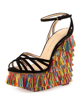Fiesta Meredith Fringe Wedge, Multi