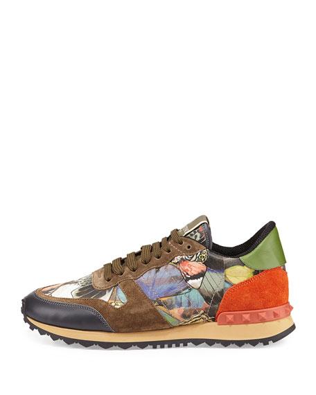 Butterfly Camouflage Rockstud Sneaker