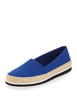 Gabardine Espadrille Loafer, Bluette