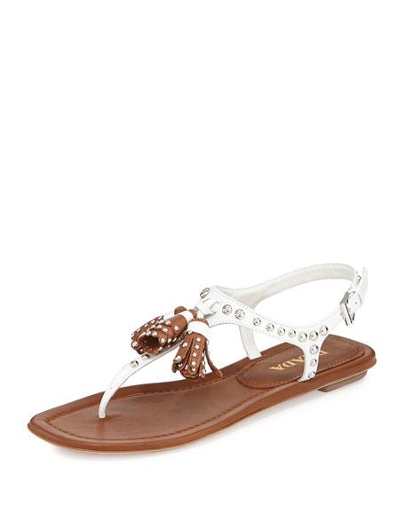 Studded leather sandals Prada qR61F