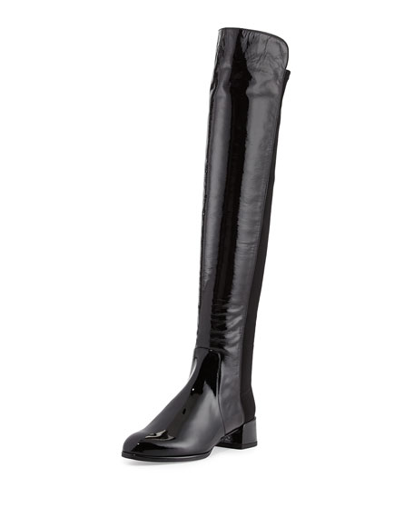 e45656d22af Stuart Weitzman Fifo Patent Stretch Over-the-Knee Boot