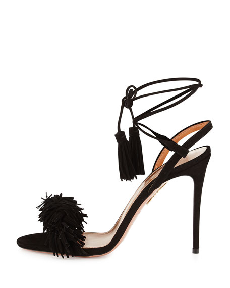Wild Thing Suede Sandal, Black