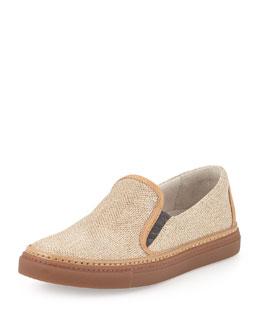 Glitter Slip-On Skate Shoe, Gold