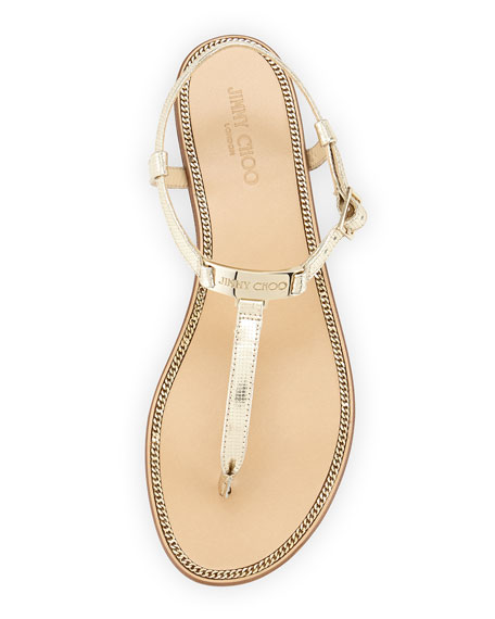 9e4f47178ccefb Jimmy Choo Wave Metallic Leather Thong Sandal