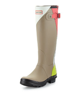 Original Tall Dazzle Welly Boot, Bright Watermelon