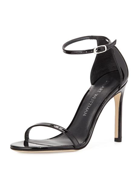 fd1de2ff5b2 Stuart Weitzman Nudistsong Patent Ankle-Strap Sandal