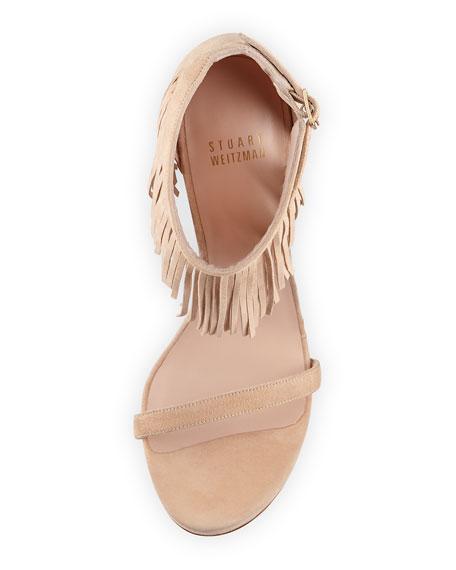 Lovefringe Suede Sandal, Bisque