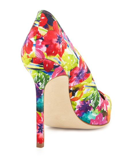 BB Fabric 115mm Pump, Vivid Floral