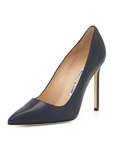 BB Leather 115mm Pump, Navy