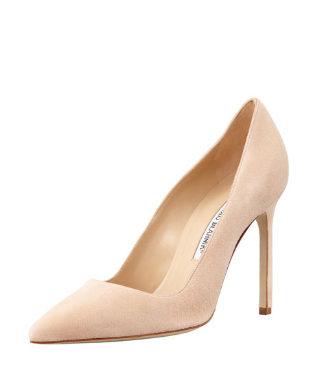 BB Suede 115mm Pump, Nude (Made to Order)