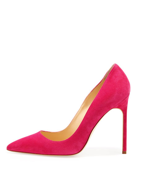 BB Suede 115mm Pump, Fuchsia