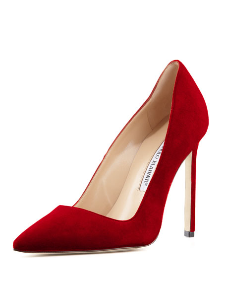 BB Suede 115mm Pump, Ruby