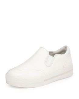 Jungle Ostrich Embossed Leather Skate Shoe