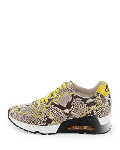 Love Printed Trainer Sneaker, Roccia Yellow