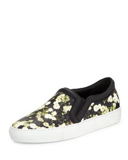 Floral-Print Skate Sneaker, Baby's Breath