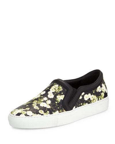 Floral-Print Skate Sneaker, Baby