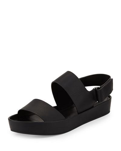 Marett Leather Platform Sandal, Black