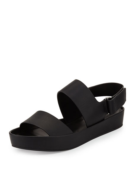 Marett Leather Platform Sandal, Black