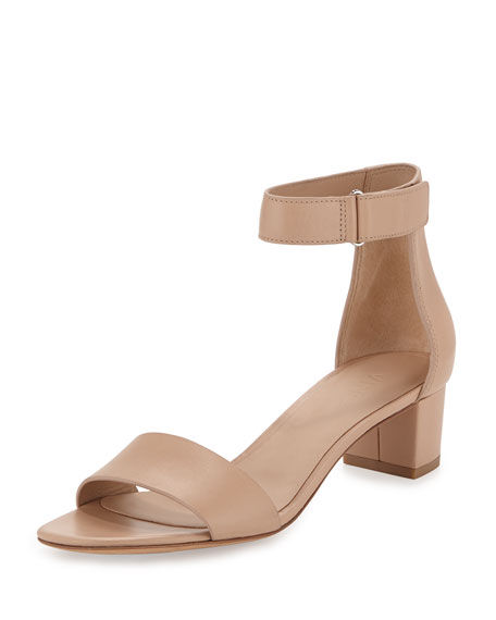 Vince Rita Leather Block-Heel Sandal, Nude
