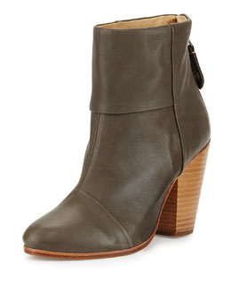 Classic Newbury Chelsea Leather Boot, Taupe