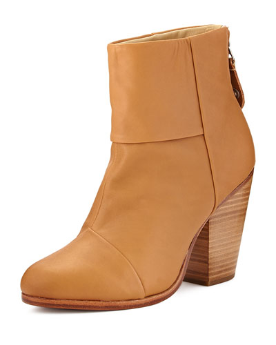 Classic Newbury Leather Bootie, Tan