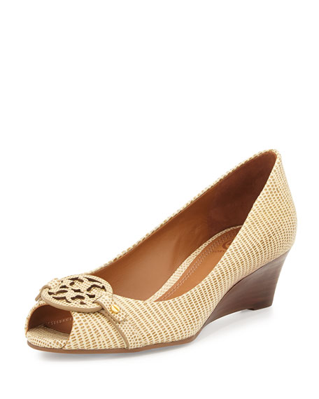 4ebca230c54 Tory Burch Mini Miller Open-Toe Wedge