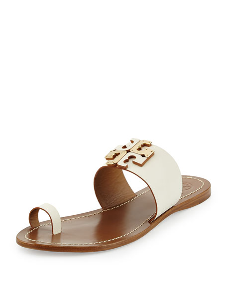 87adc0794 Tory Burch Lowell Leather Logo Sandal