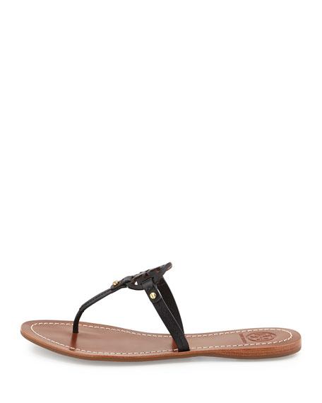 05d8b5a8d9e6 Tory Burch Mini Miller Leather Flat Thong Sandal