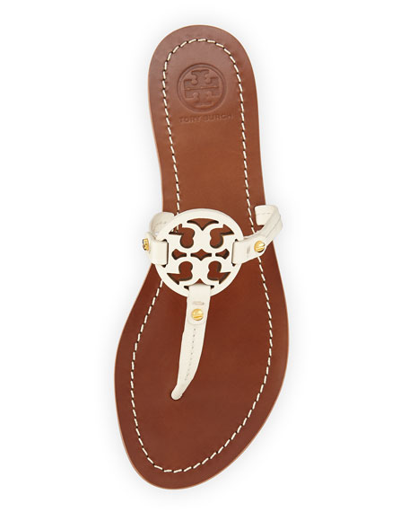 70a5f14aee9deb Tory Burch Mini Miller Leather Flat Thong Sandal