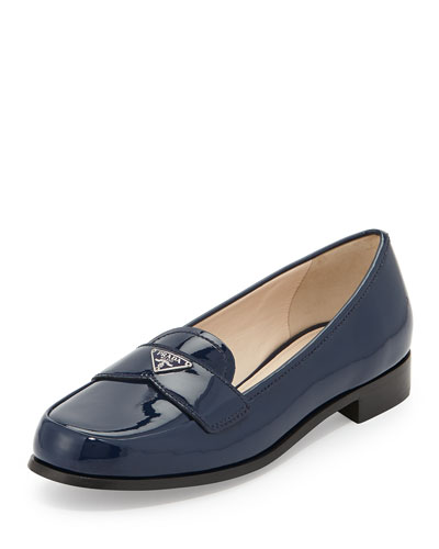 Patent Triangle Logo Loafer, Royal