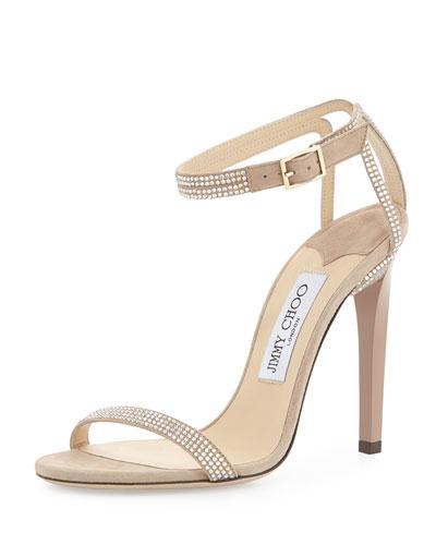208f01be5c8b Jimmy Choo Daisy Crystallized Ankle-Wrap Sandal