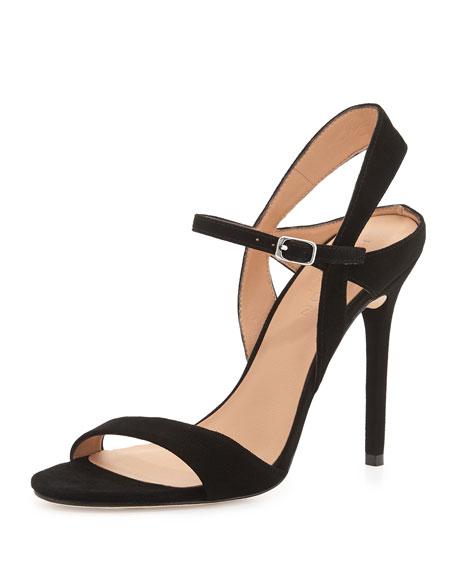 Ainsley Suede Sandal, Black