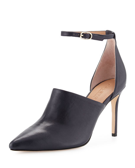 Chloe Leather d'Orsay Pump, Navy