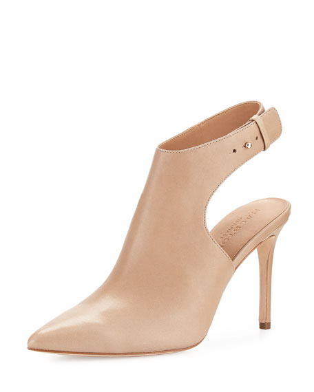 Betty Ankle-Strap Bootie, Buff