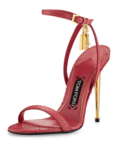 c247a0cbbb9 TOM FORD Lock Ankle-Wrap Python 110mm Sandal