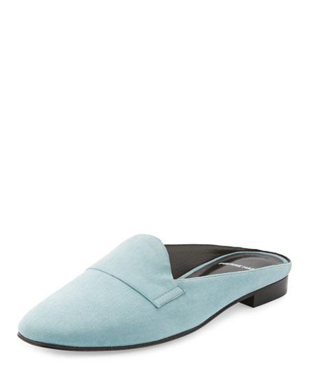 Jacno Suede Loafer Slide, Blue