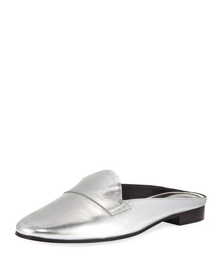 Pierre Hardy Jacno Metallic Loafer Slide, Silver